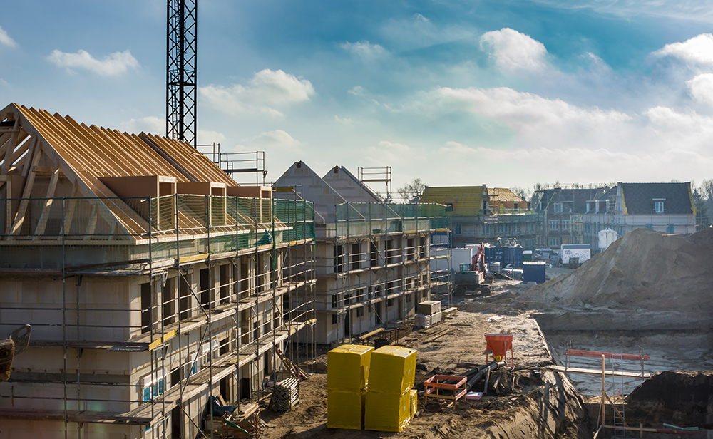 housing development in construction